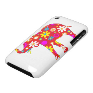 Elephant funky retro floral iphone 3G case barely iPhone 3 Covers