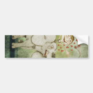 Elephant Funny fantastic to lie down and imagin Bumper Sticker