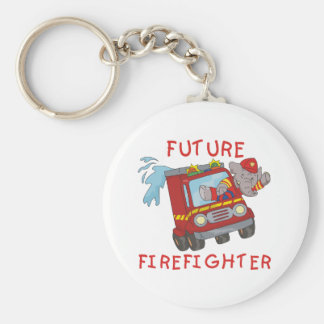 Elephant Future Firefighter Tshirts and Gifts Key Ring