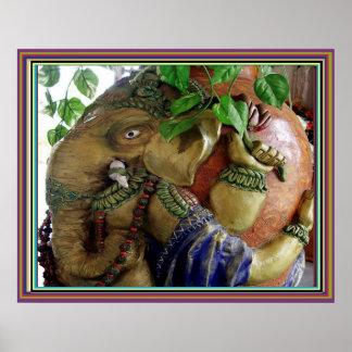 Elephant Ganesh Poster