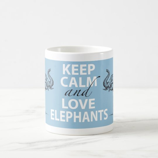 Elephant Gift Keep Calm and Love Elephants Print