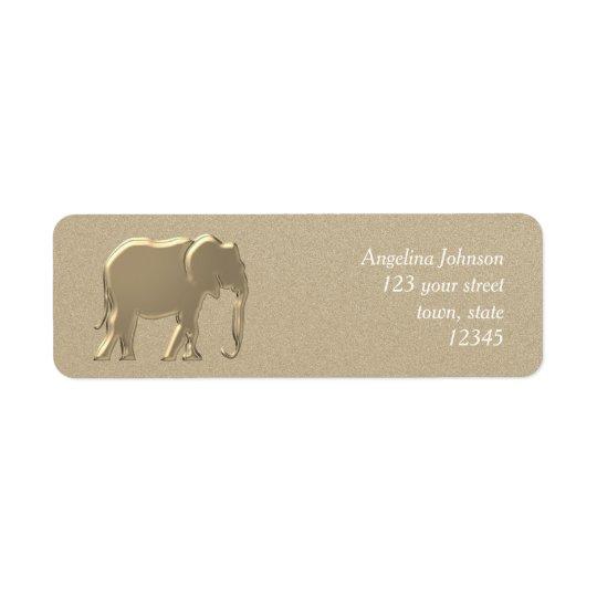 Elephant Golden Silhouette Elegant Glamour Emboss