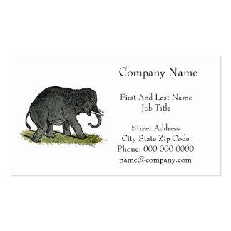 Elephant Gray Children's Cartoon Business Cards