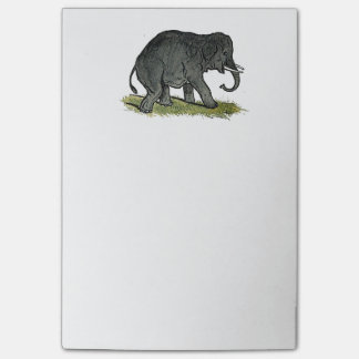 Elephant Gray Children's Cartoon Post-it Notes