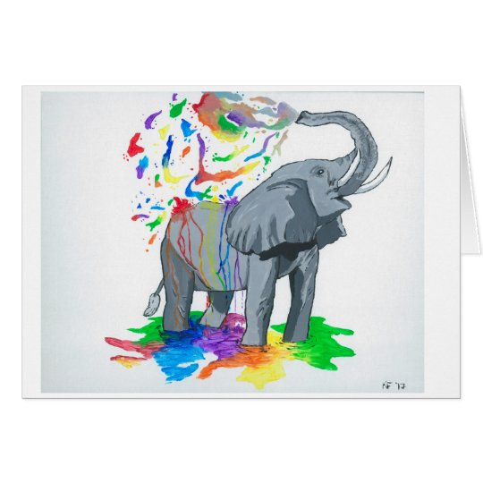 Elephant Greeting Card (Blank)