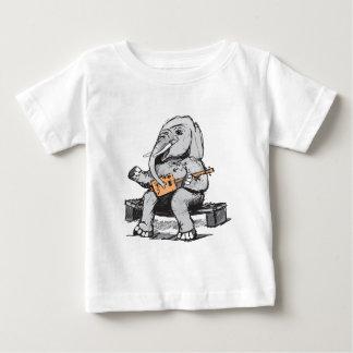 Elephant Guitar Player Baby T-Shirt
