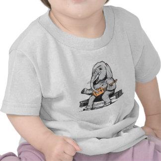 Elephant Guitar Player T Shirts