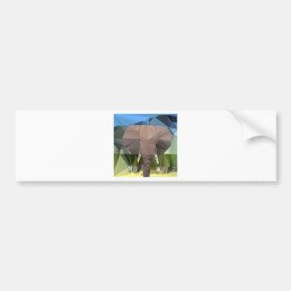 Elephant Head African Theme Low Poly Bumper Sticker
