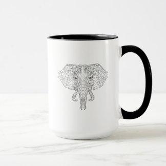 Elephant Head Doodle 2 Mug