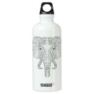 Elephant Head Doodle 2 Water Bottle