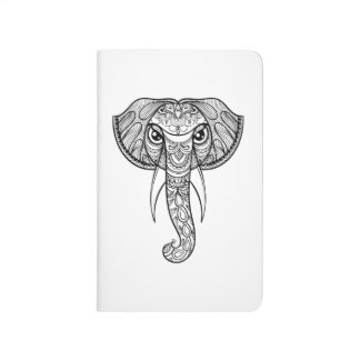 Elephant Head Doodle Journal