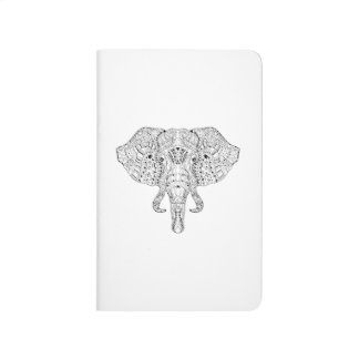 Elephant Head Doodle Sketch Journal