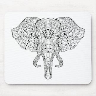 Elephant Head Doodle Sketch Mouse Mat