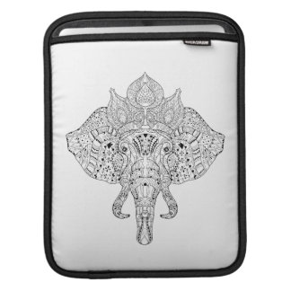 Elephant Head Inspired Doodle iPad Sleeve