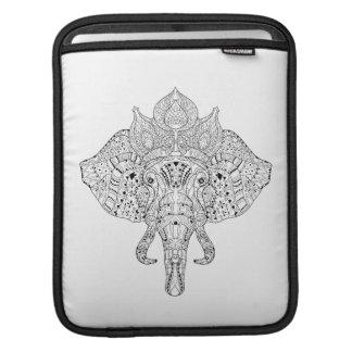 Elephant Head Inspired Doodle iPad Sleeves