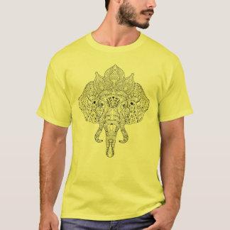 Elephant Head Inspired Doodle T-Shirt