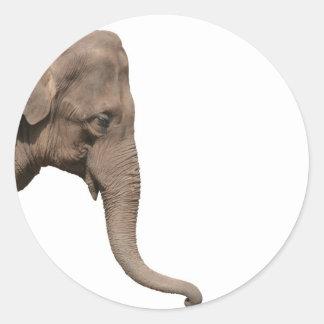Elephant head stickers