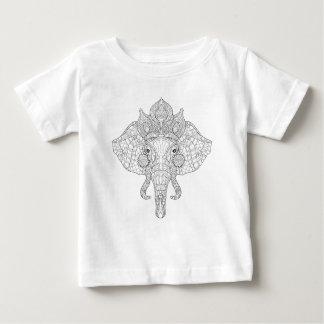 Elephant Head Zendoodle Baby T-Shirt
