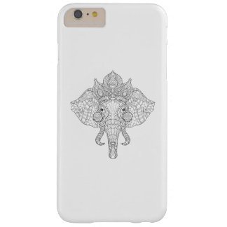 Elephant Head Zendoodle Barely There iPhone 6 Plus Case