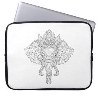 Elephant Head Zendoodle Laptop Sleeve