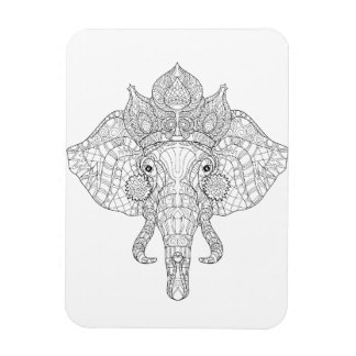 Elephant Head Zendoodle Magnet