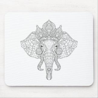Elephant Head Zendoodle Mouse Mat