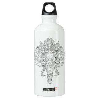 Elephant Head Zendoodle Water Bottle