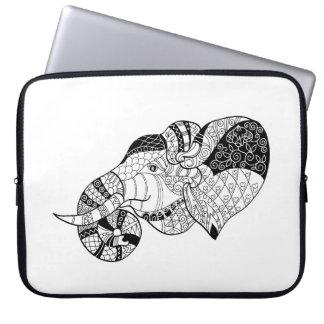 Elephant Head Zenstyle Doodle Laptop Sleeve