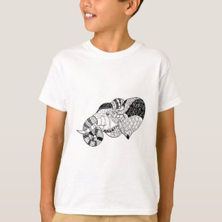 Elephant Head Zenstyle Doodle T-Shirt
