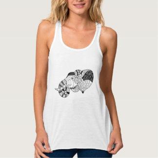 Elephant Head Zenstyle Doodle Tank Top