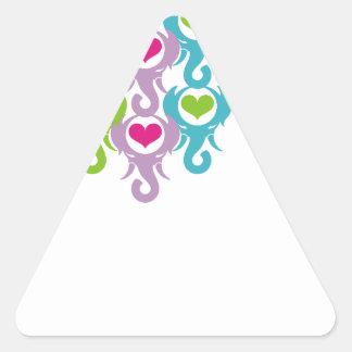 elephant heart triangle sticker