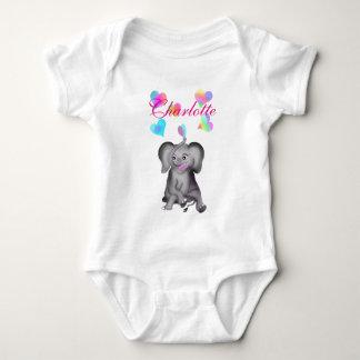 Elephant Hearts by The Happy Juul Company Baby Bodysuit