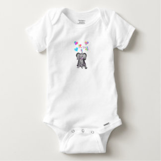 Elephant Hearts by The Happy Juul Company Baby Onesie