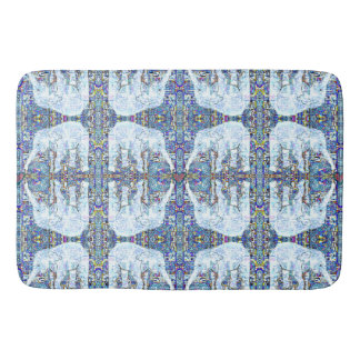 Elephant Hearts Mandala Pattern Bath Mat