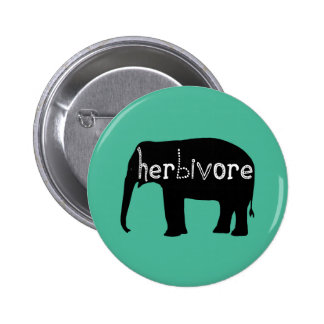 Elephant - Herbivore - Blue 6 Cm Round Badge