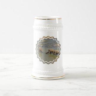 Elephant Herd  Beer Stein 18 Oz Beer Stein