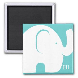 Elephant Hi Square Magnet