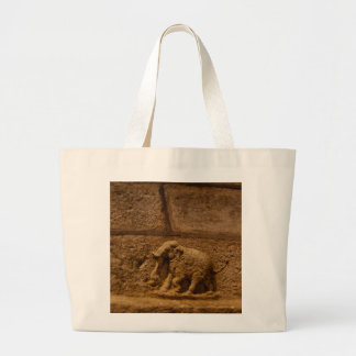 Elephant Historical Stone Statue / India Tote Bags