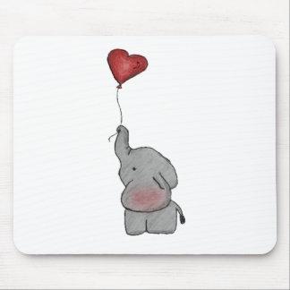 Elephant Holding Balloon Mouse Mat