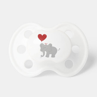 Elephant holding heart-shaped balloon dummy