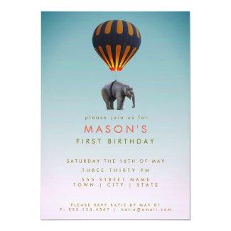 Elephant & Hot Air Balloon | Birthday Party