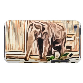 elephant. in captivity painting. Case-Mate iPod touch case