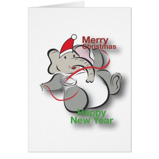 Elephant in Christmas Card