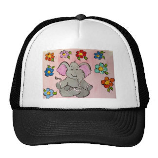 Elephant in meditation cap