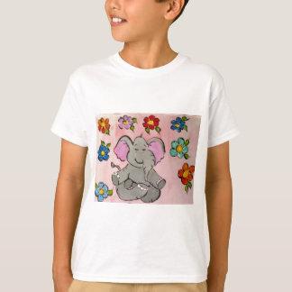 Elephant in meditation t shirts