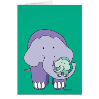 Elephant in Purple Card