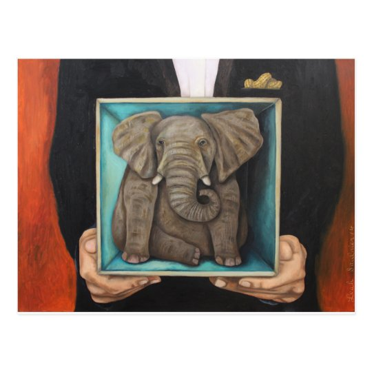 Elephant In The Box Postcard