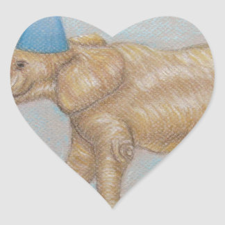 elephant in the circus heart sticker