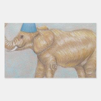 elephant in the circus rectangular sticker