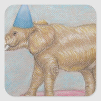 elephant in the circus square sticker